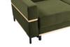 BOHUS Rozkładana sofa 3 osobowa w stylu skandynawskim oliwka oliwkowy - zdjęcie 3