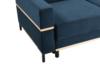 BOHUS Rozkładana sofa 3 osobowa w stylu skandynawskim granatowa granatowy - zdjęcie 3