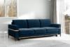 BOHUS Rozkładana sofa 3 osobowa w stylu skandynawskim granatowa granatowy - zdjęcie 2