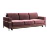 BOHUS Rozkładana sofa 3 osobowa w stylu skandynawskim różowa koralowy - zdjęcie 1