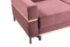 BOHUS Rozkładana sofa 3 osobowa w stylu skandynawskim różowa koralowy - zdjęcie 3
