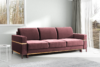 BOHUS Rozkładana sofa 3 osobowa w stylu skandynawskim różowa koralowy - zdjęcie 2