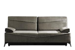 SEOLUS, https://konsimo.pl/kolekcja/seolus/ Sofa rozkładana z podłokietnikami welur brązowa jasny brązowy - zdjęcie