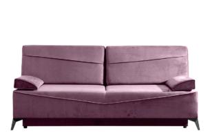 SEOLUS, https://konsimo.pl/kolekcja/seolus/ Sofa rozkładana z podłokietnikami welur fioletowa fioletowy - zdjęcie