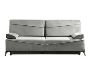 SEOLUS, https://konsimo.pl/kolekcja/seolus/ Sofa rozkładana z podłokietnikami welur beżowa beżowy - zdjęcie