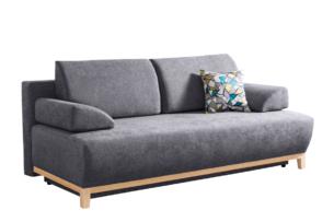 VERTIS, https://konsimo.pl/kolekcja/vertis/ Sofa rozkładana z drewnianymi nóżkami szara ciemny szary - zdjęcie