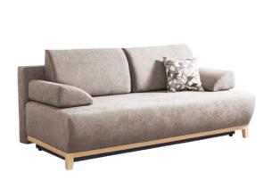 VERTIS, https://konsimo.pl/kolekcja/vertis/ Sofa rozkładana z drewnianymi nóżkami beżowa beżowy - zdjęcie