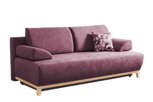 VERTIS, https://konsimo.pl/kolekcja/vertis/ Sofa rozkładana z drewnianymi nóżkami różowy różowy - zdjęcie