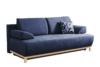 VERTIS Sofa rozkładana z drewnianymi nóżkami granatowa granatowy - zdjęcie 1
