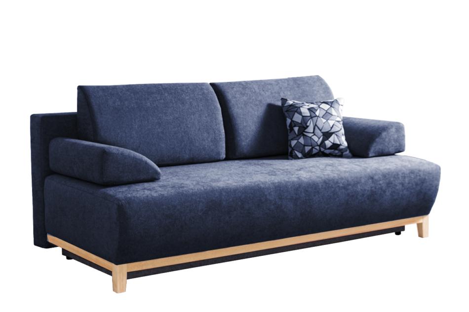 VERTIS Sofa rozkładana z drewnianymi nóżkami granatowa granatowy - zdjęcie 0