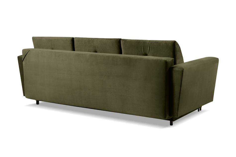 SCOLY Wygodna sofa z funkcją spania pikowana oliwkowa zielony - zdjęcie 3