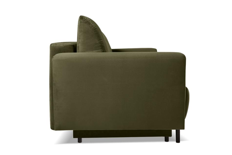SCOLY Wygodna sofa z funkcją spania pikowana oliwkowa zielony - zdjęcie 5