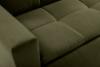 SCOLY Wygodna sofa z funkcją spania pikowana oliwkowa zielony - zdjęcie 7