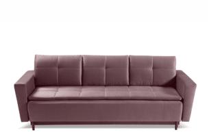 SCOLY, https://konsimo.pl/kolekcja/scoly/ Wygodna sofa z funkcją spania pikowana fioletowa fioletowy - zdjęcie