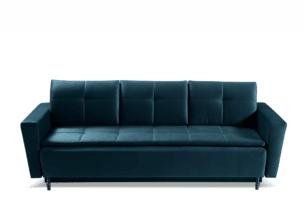 SCOLY, https://konsimo.pl/kolekcja/scoly/ Wygodna sofa z funkcją spania pikowana granatowa granatowy - zdjęcie