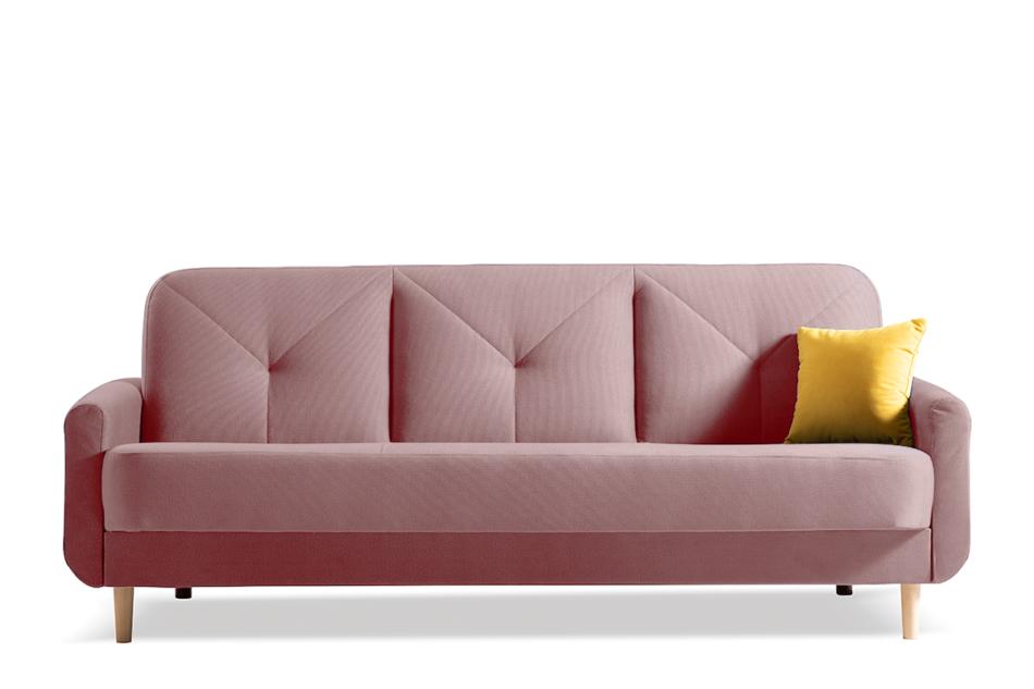 AVENU Rozkładana wersalka 3 osobowa z pojemnikiem na pościel różowa różowy - zdjęcie 0