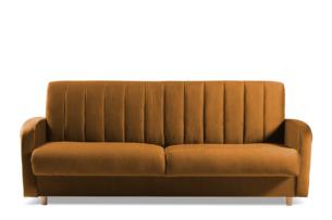 CAVICO, https://konsimo.pl/kolekcja/cavico/ Rozkładana sofa do salonu automat wersalkowy żółta musztardowy - zdjęcie