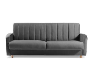 CAVICO, https://konsimo.pl/kolekcja/cavico/ Rozkładana sofa do salonu automat wersalkowy szara grafitowy - zdjęcie