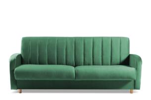 CAVICO, https://konsimo.pl/kolekcja/cavico/ Rozkładana sofa do salonu automat wersalkowy ciemnozielona ciemny zielony - zdjęcie