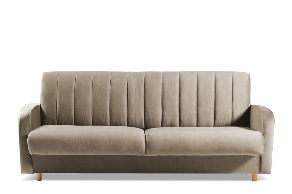 CAVICO Rozkładana sofa do salonu automat wersalkowy beżowa beżowy - zdjęcie 0
