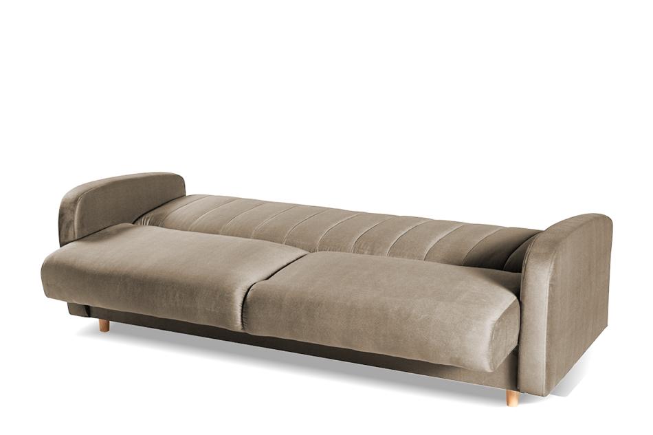 CAVICO Rozkładana sofa do salonu automat wersalkowy beżowa beżowy - zdjęcie 3