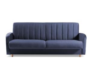 CAVICO, https://konsimo.pl/kolekcja/cavico/ Rozkładana sofa do salonu automat wersalkowy granatowa granatowy - zdjęcie