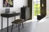 SOMA Komoda z szufladami w stylu loft na nóżkach czarna czarny - zdjęcie 2
