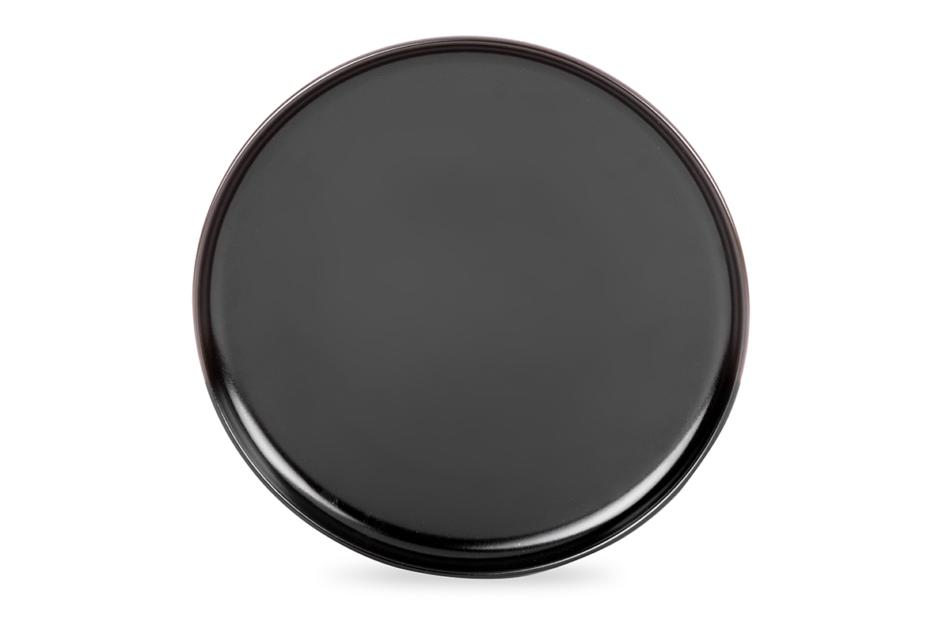 VICTO Nowoczesny serwis obiadowy 6 os. 24 elementy Czarny mat czarny/matowy - zdjęcie 3