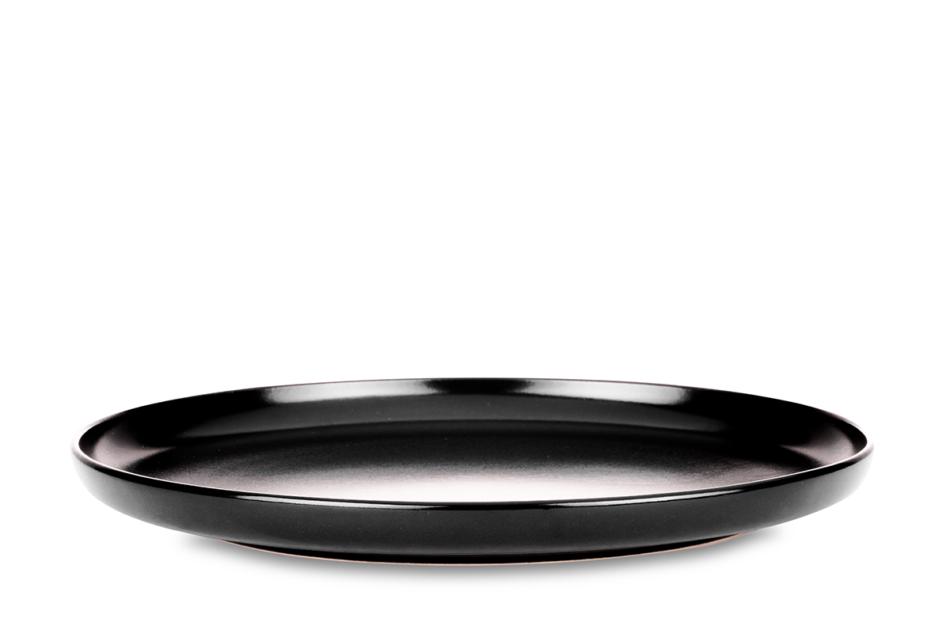 VICTO Nowoczesny serwis obiadowy 6 os. 24 elementy Czarny mat czarny/matowy - zdjęcie 2