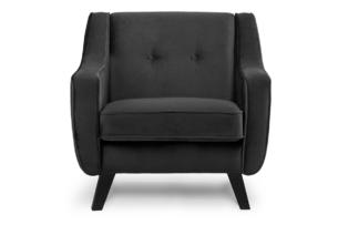 TERSO, https://konsimo.pl/kolekcja/terso/ Skandynawski fotel welurowy grafit grafitowy - zdjęcie