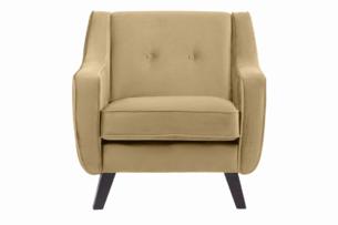 TERSO, https://konsimo.pl/kolekcja/terso/ Skandynawski fotel welurowy beżowy beżowy - zdjęcie