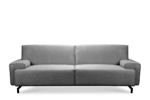 PERTO, https://konsimo.pl/kolekcja/perto/ Sofa loft na czarnych nóżkach szara szary - zdjęcie