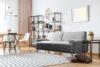 PERTO Sofa loft na czarnych nóżkach szara szary - zdjęcie 2