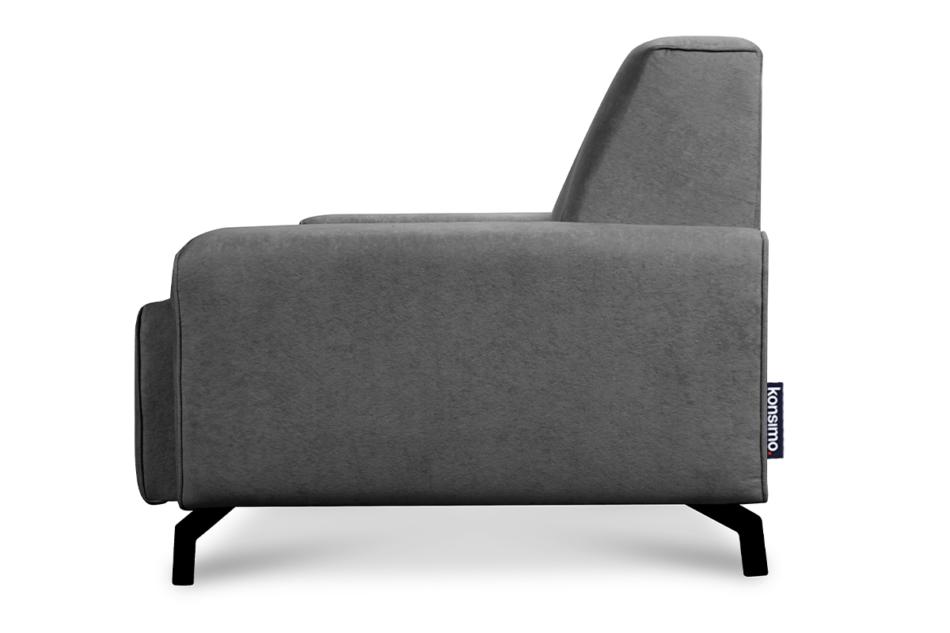 PERTO Sofa loft na czarnych nóżkach szara szary - zdjęcie 3
