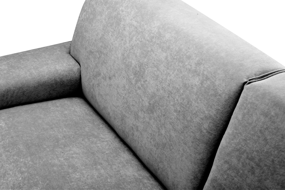 PERTO Sofa loft na czarnych nóżkach szara szary - zdjęcie 6