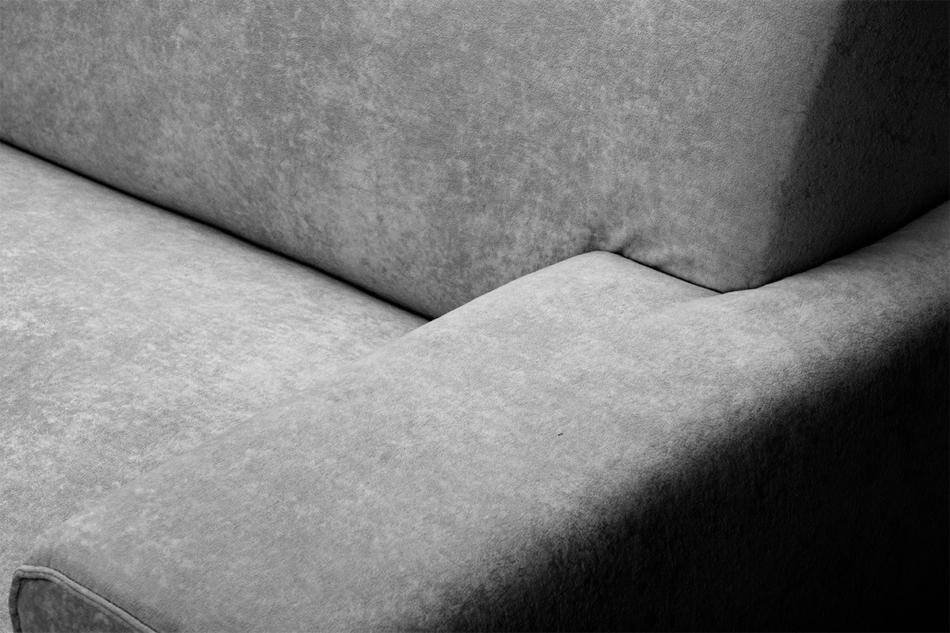 PERTO Sofa loft na czarnych nóżkach szara szary - zdjęcie 7