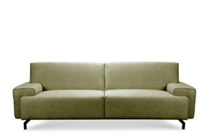 PERTO, https://konsimo.pl/kolekcja/perto/ Sofa loft na czarnych nóżkach oliwkowa jasny zielony - zdjęcie