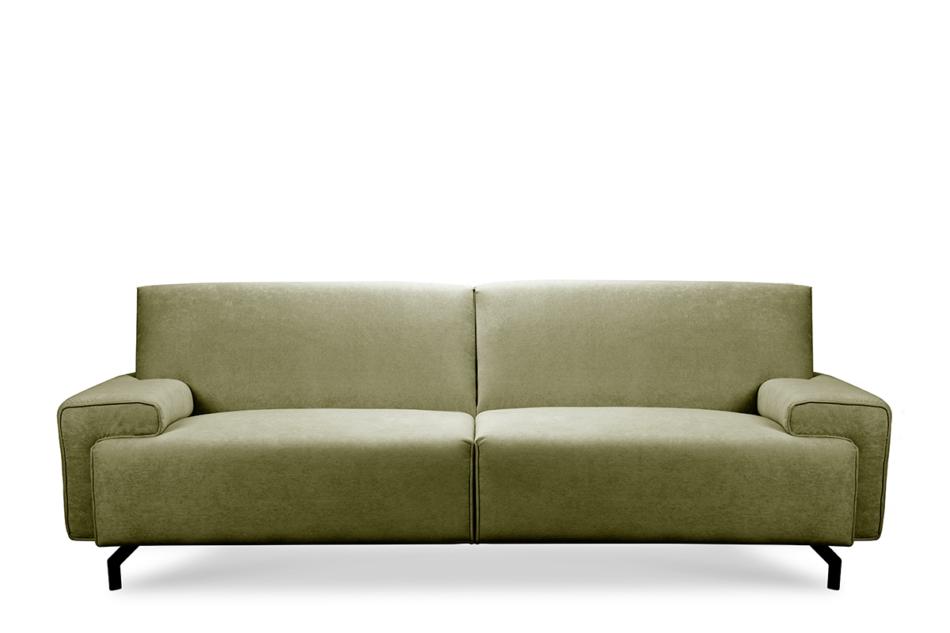 PERTO Sofa loft na czarnych nóżkach oliwkowa jasny zielony - zdjęcie 0