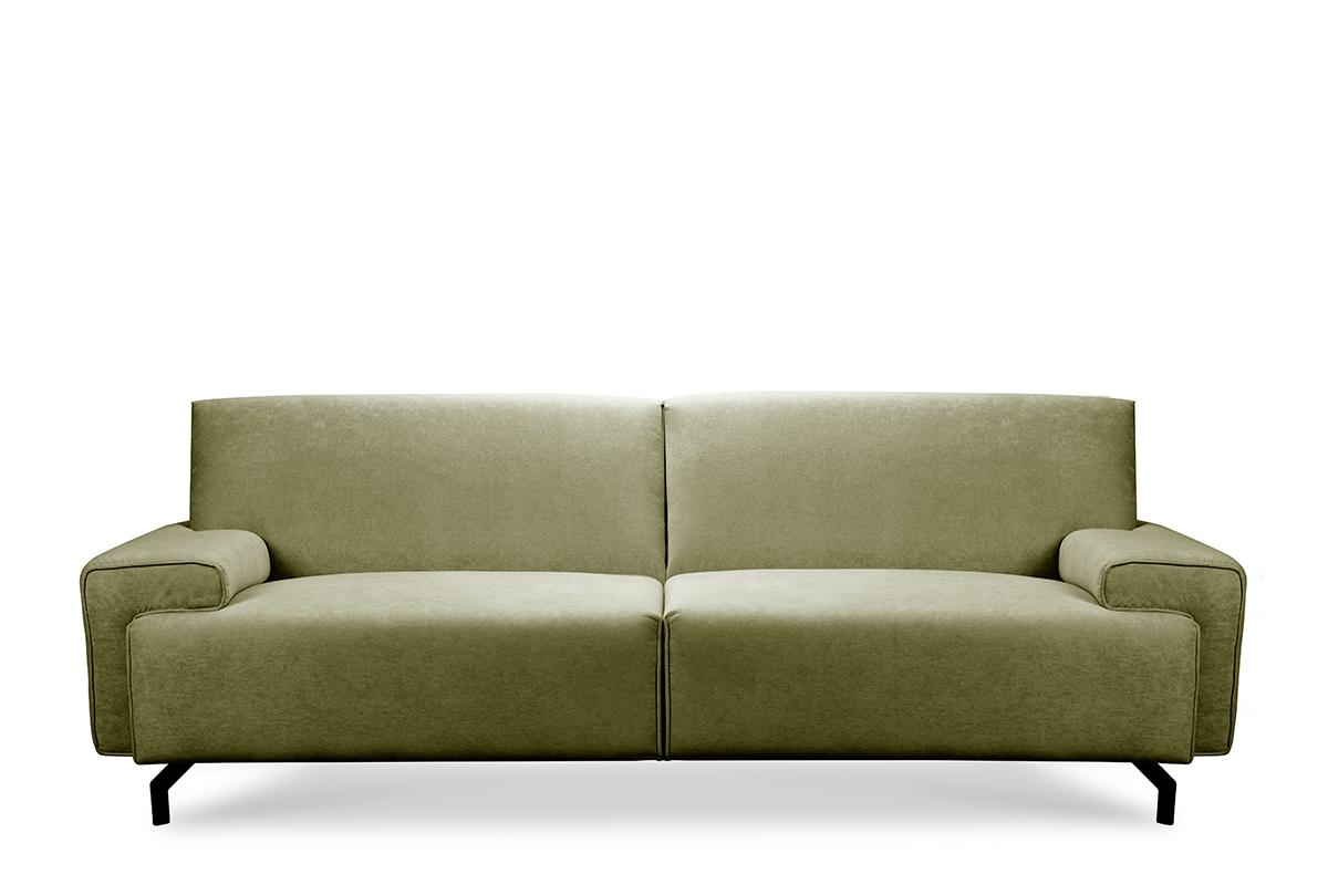 Sofa loft na czarnych nóżkach oliwkowa