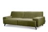 PERTO Sofa loft na czarnych nóżkach oliwkowa jasny zielony - zdjęcie 3