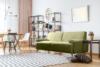 PERTO Sofa loft na czarnych nóżkach oliwkowa jasny zielony - zdjęcie 2