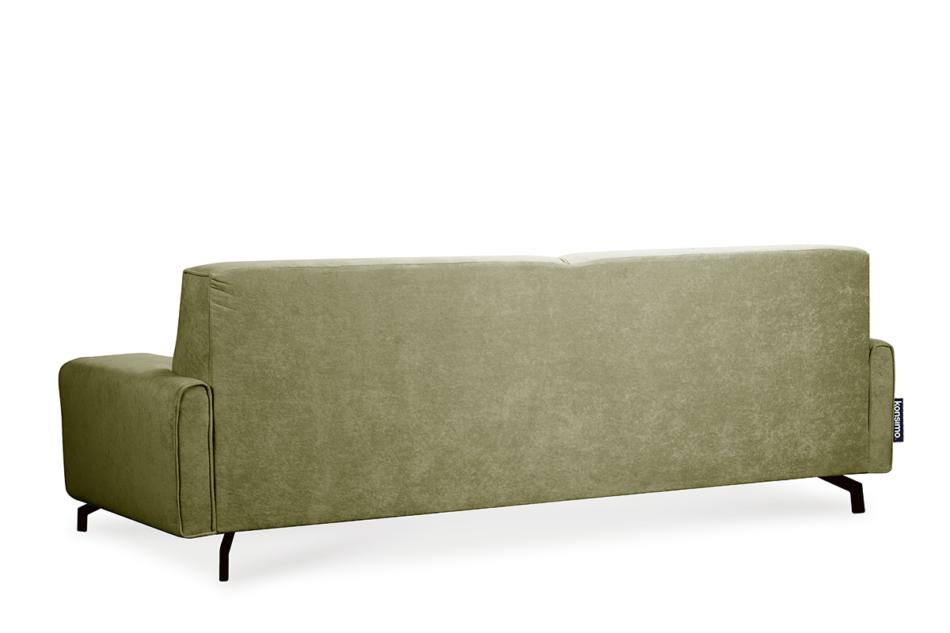 PERTO Sofa loft na czarnych nóżkach oliwkowa jasny zielony - zdjęcie 5