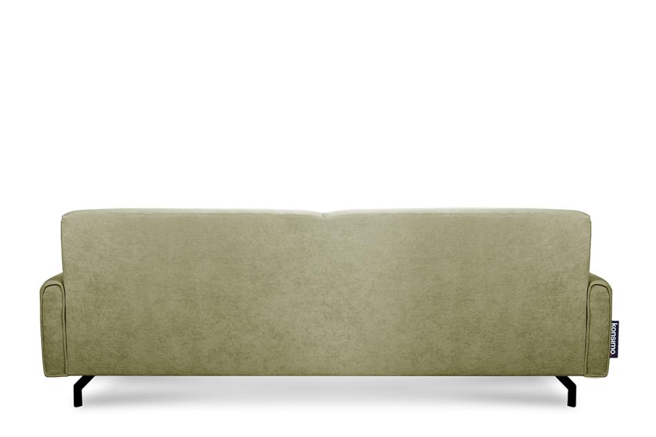 PERTO Sofa loft na czarnych nóżkach oliwkowa jasny zielony - zdjęcie 4