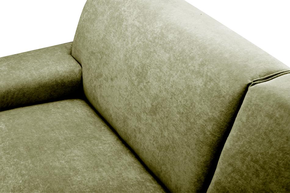 PERTO Sofa loft na czarnych nóżkach oliwkowa jasny zielony - zdjęcie 7