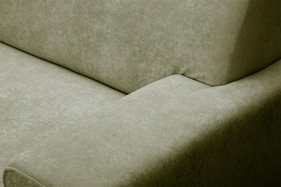 PERTO Sofa loft na czarnych nóżkach oliwkowa jasny zielony - zdjęcie 6