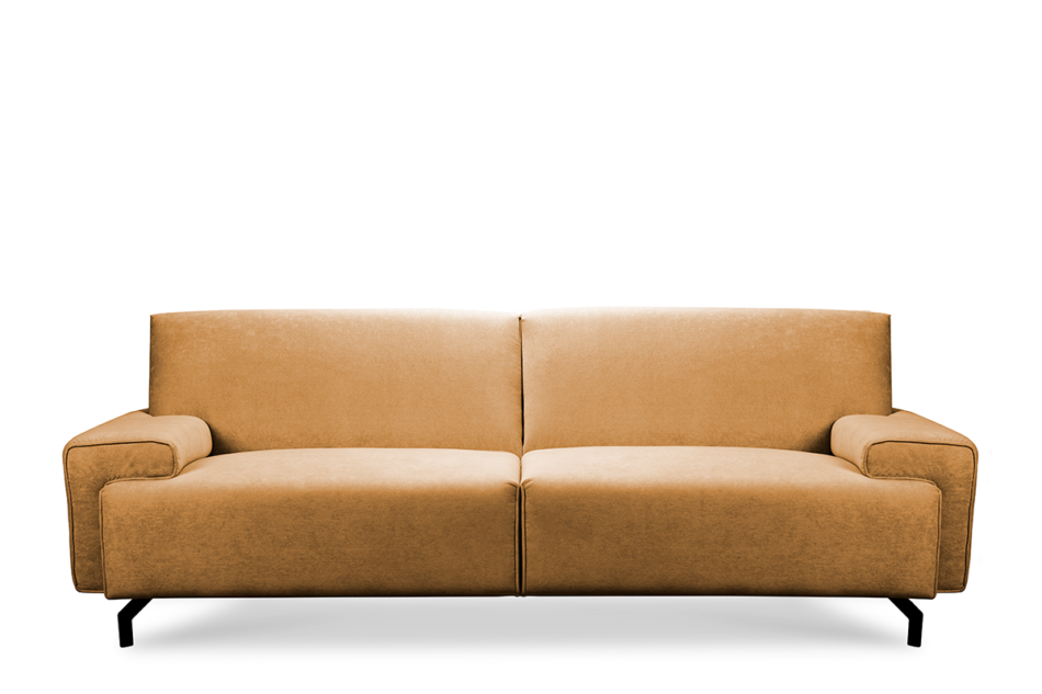 PERTO Sofa loft na czarnych nóżkach ciepły brąz brązowy - zdjęcie 0