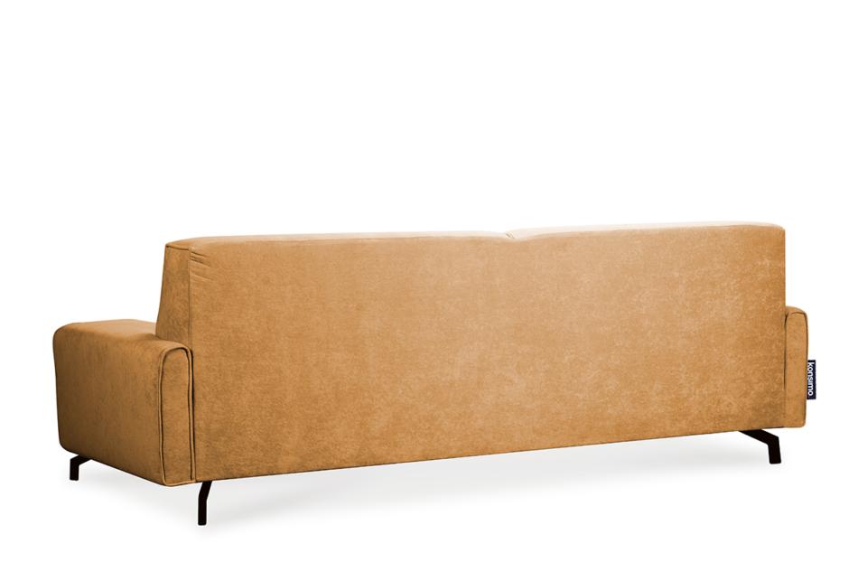 PERTO Sofa loft na czarnych nóżkach ciepły brąz brązowy - zdjęcie 5