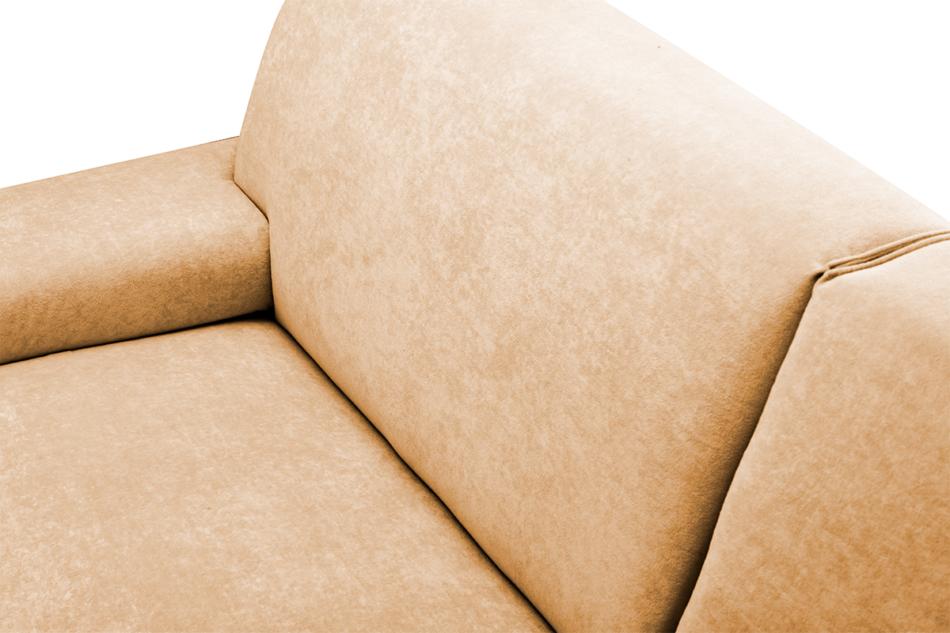 PERTO Sofa loft na czarnych nóżkach ciepły brąz brązowy - zdjęcie 7