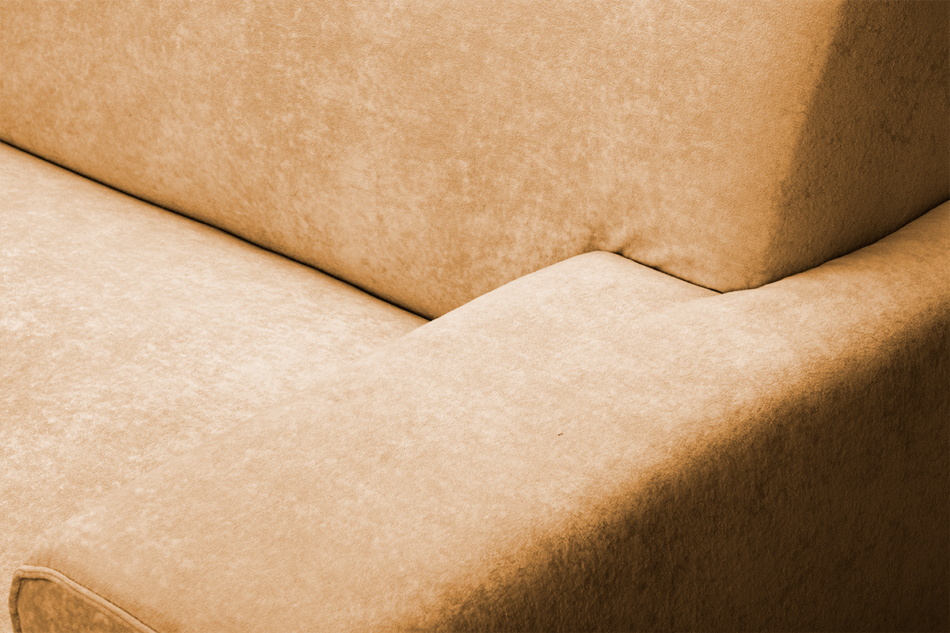 PERTO Sofa loft na czarnych nóżkach ciepły brąz brązowy - zdjęcie 6
