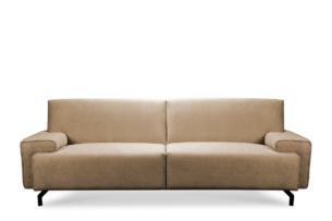 PERTO, https://konsimo.pl/kolekcja/perto/ Sofa loft na czarnych nóżkach ciepły beż jasny brązowy - zdjęcie